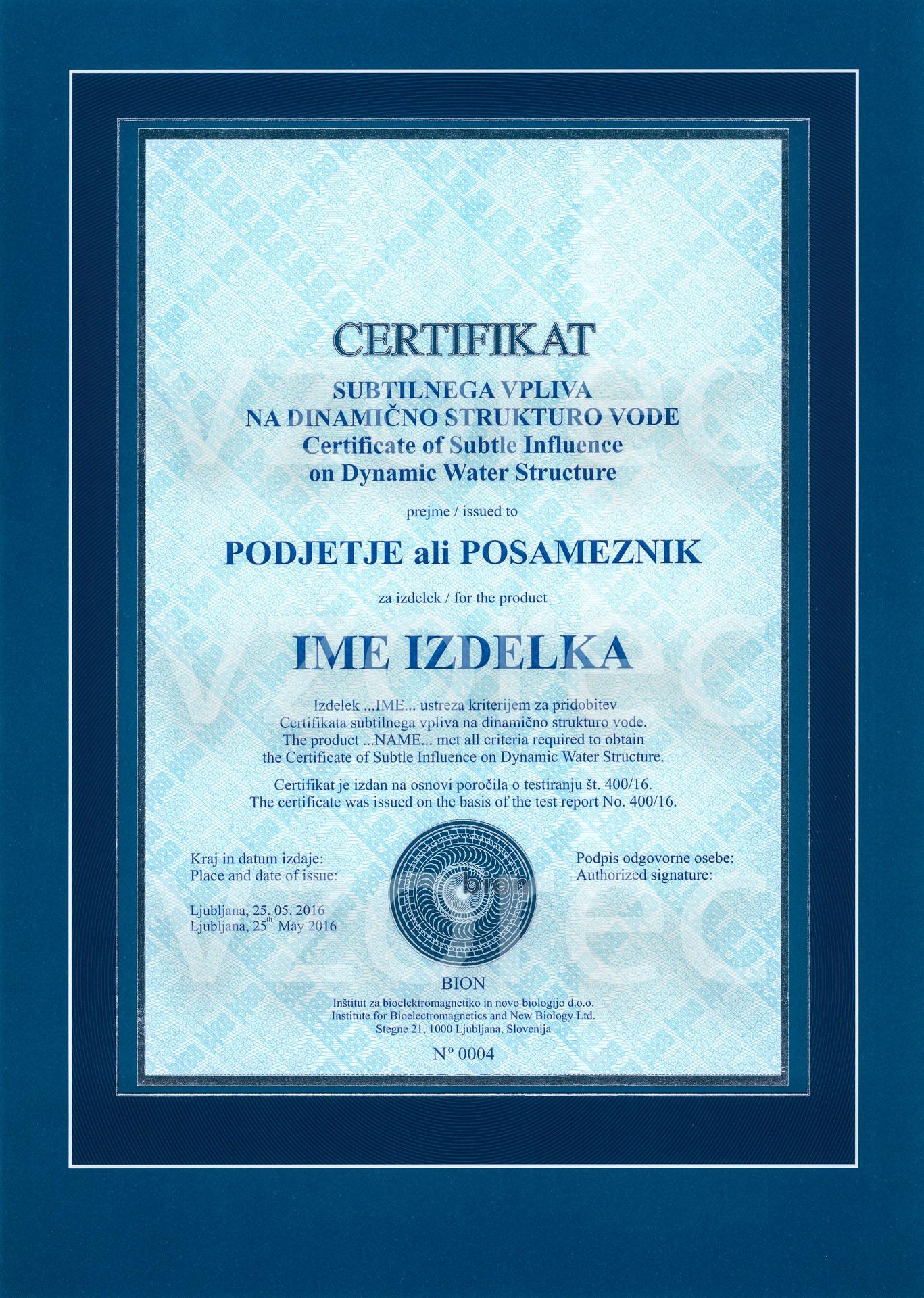 institut_bion_certifikat_vpliva_na_vodo